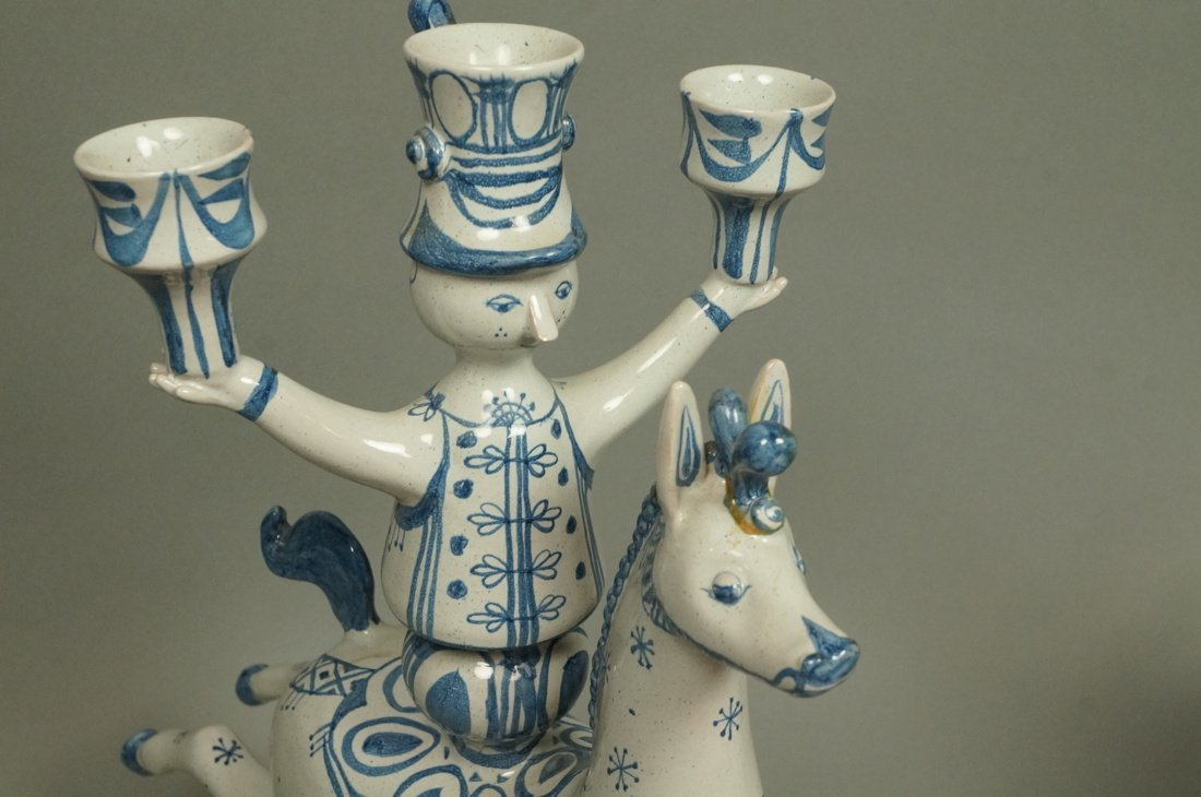 Pr BJORN WIINBLAD Figural Candlesticks. Denmark. - 6