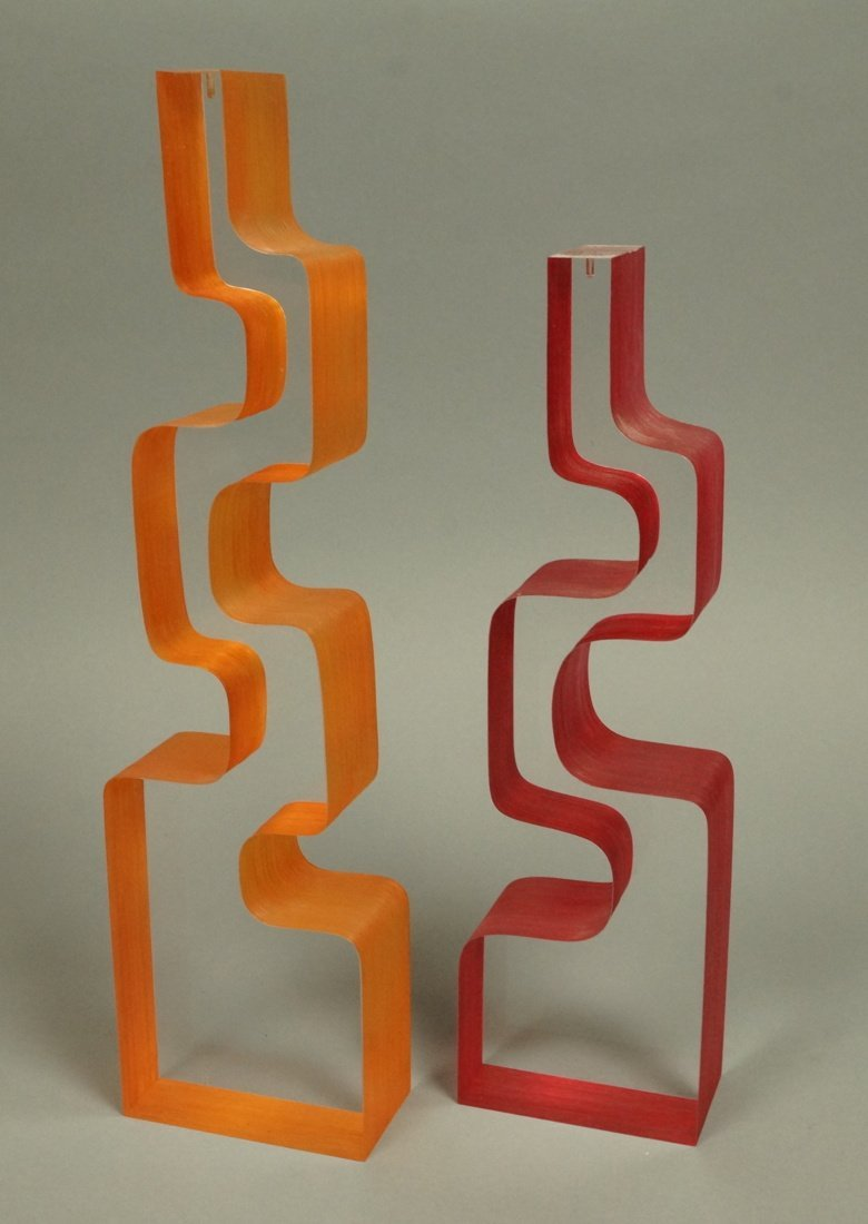 Two LePAGE Frosted Acrylic Lucite Table Sculpture
