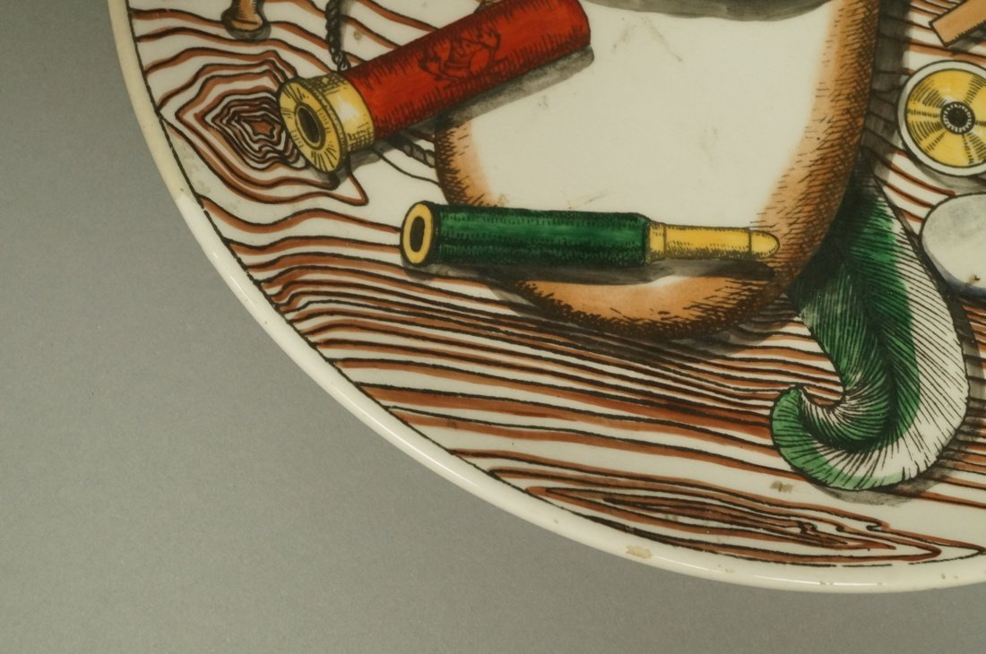 PIERO FORNASETTI Plate. Duck with hunting motifs - 3
