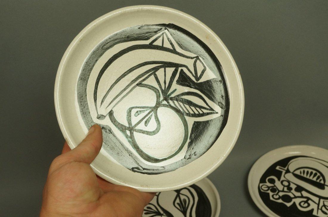 Set 7 ROGER CAPRON Vallauris Small Dishes. Cream - 8