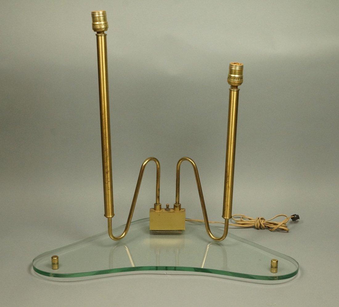 FONTANA ARTE style Lamp.  Italian Modern Brass an