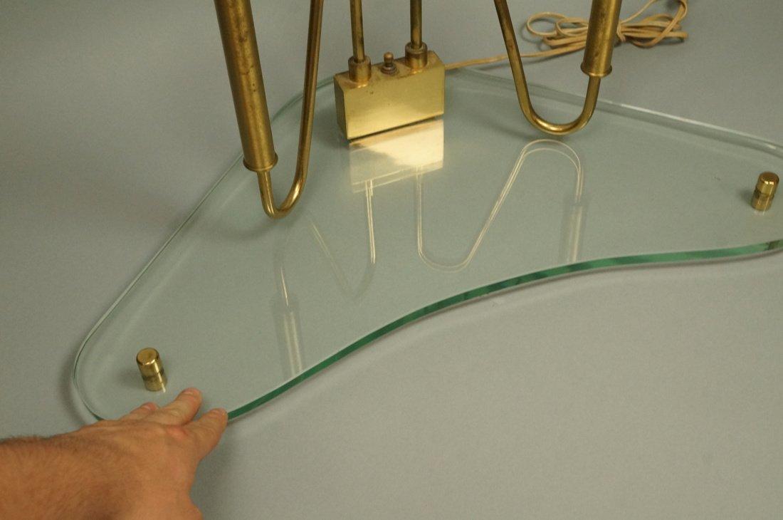 FONTANA ARTE style Lamp.  Italian Modern Brass an - 8