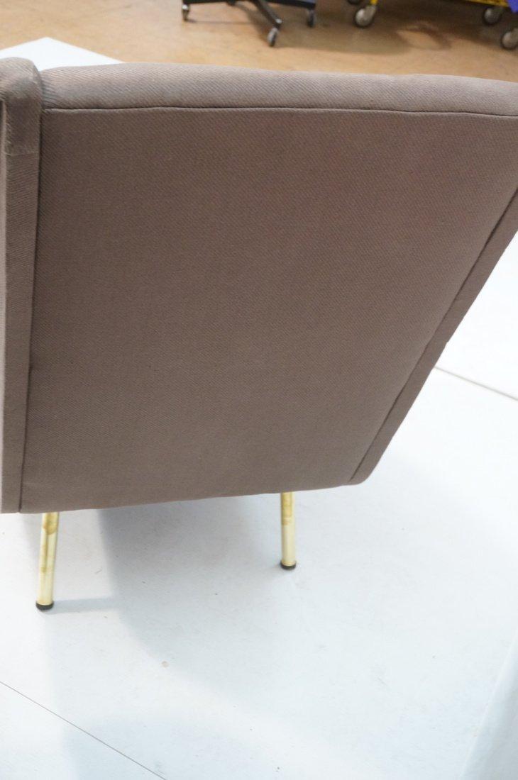 Pr Italian Heather Upholstered Modernist Lounge C - 10