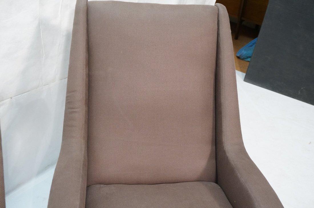 Pr Italian Heather Upholstered Modernist Lounge C - 7