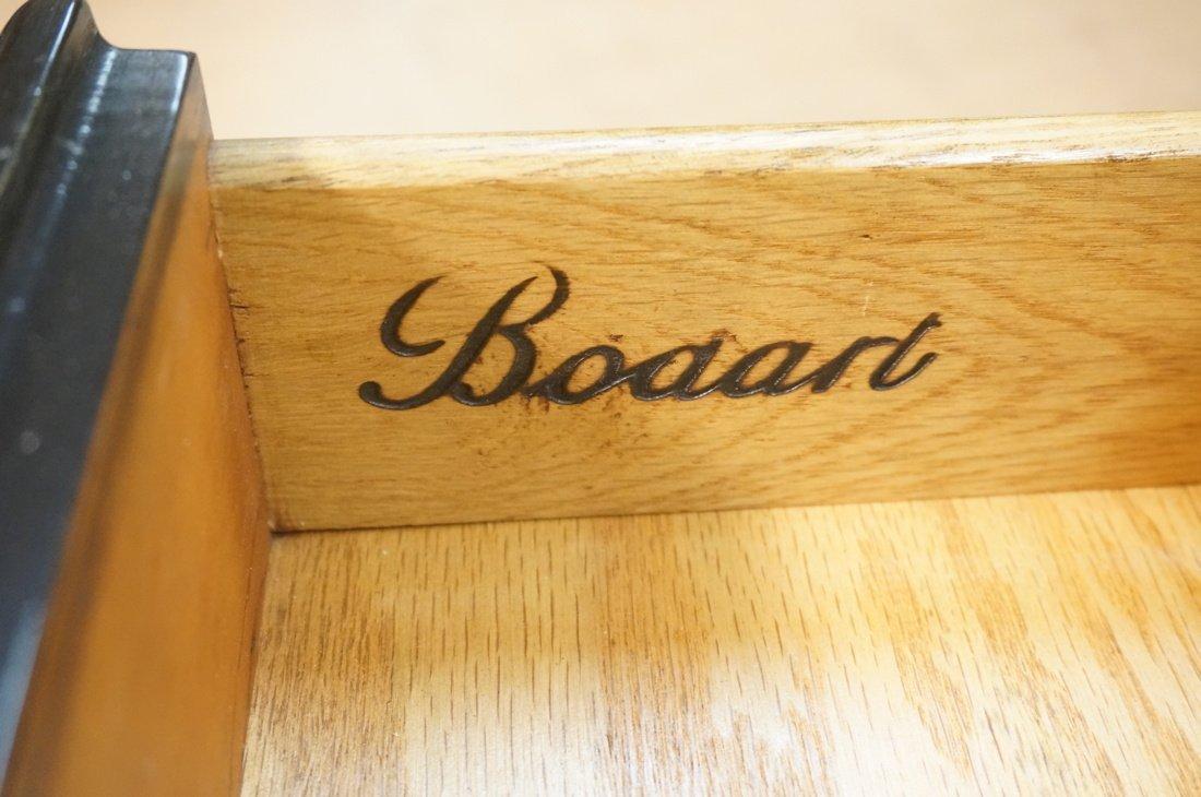 Ebonized French style Designer Desk. Cream Leathe - 4