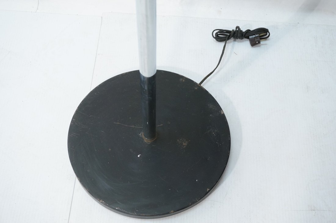 Chrome Modernist Three Arm Floor Lamp. Three rod - 7