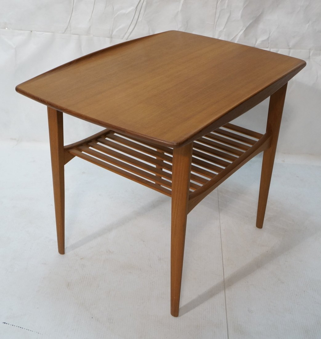 Danish Teak FRANCE & SON Side Table. Top has curv