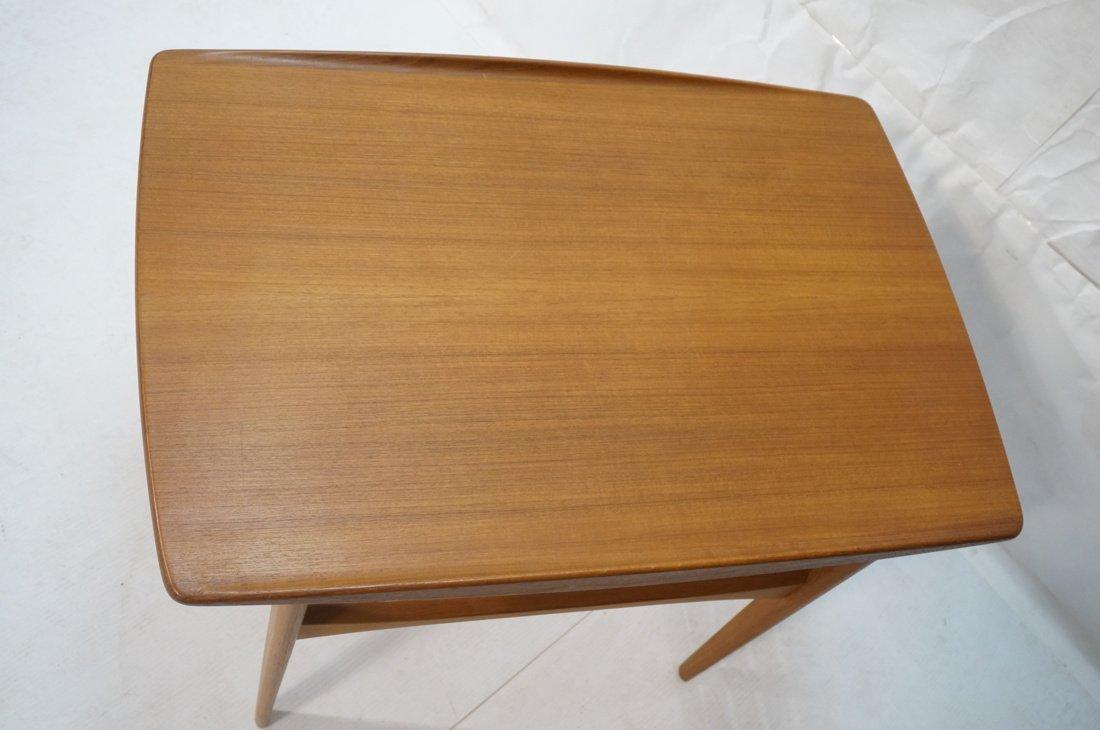 Danish Teak FRANCE & SON Side Table. Top has curv - 2