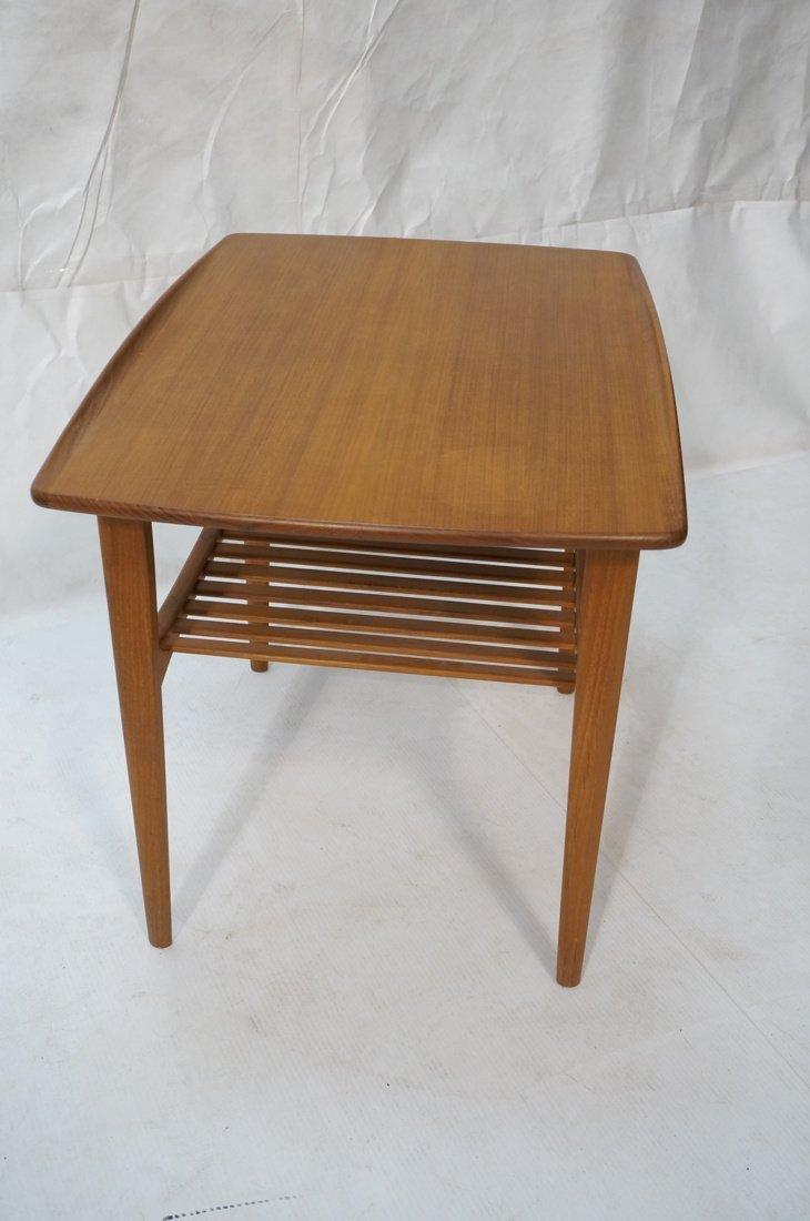 Danish Teak FRANCE & SON Side Table. Top has curv - 3