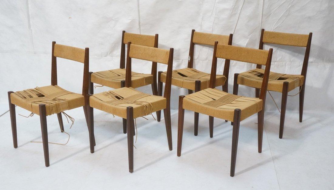 Set of 6 Danish Teak Dining Chairs.