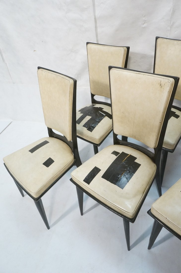 6 Italian Style Dining Chairs.  Ebonized frames. - 3