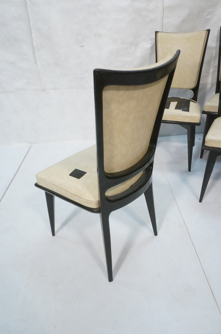 6 Italian Style Dining Chairs.  Ebonized frames. - 4