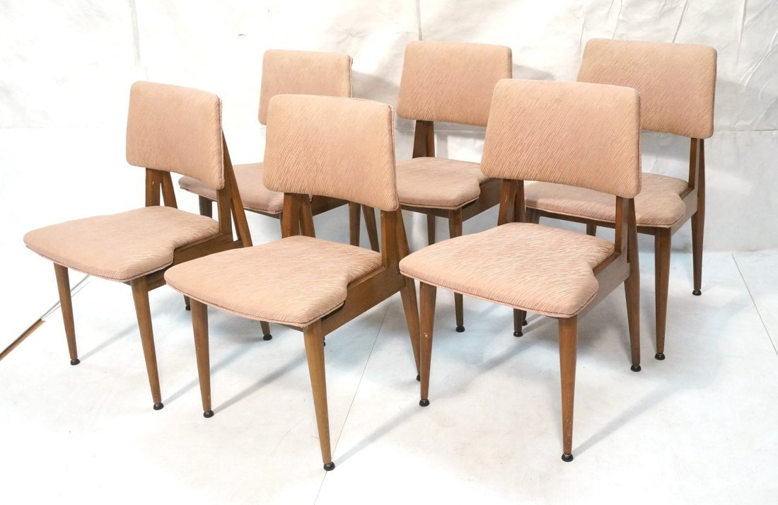 Set 6 American Modern Dining Chairs.  tapered Leg