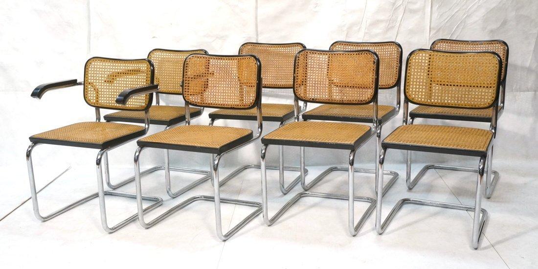 Set 8 Gavina Italy Dining Chairs.  Knoll inspecte