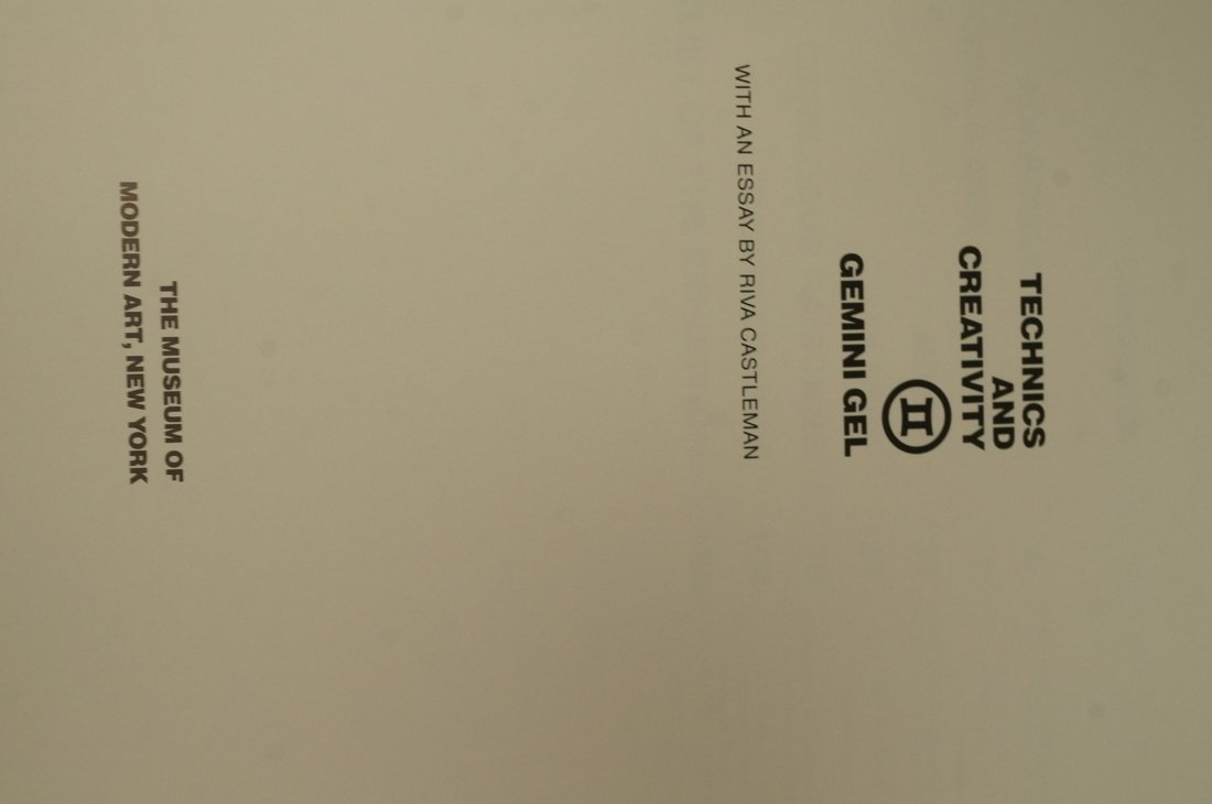 Signed Jasper Johns Technics and Creativity Book - 4