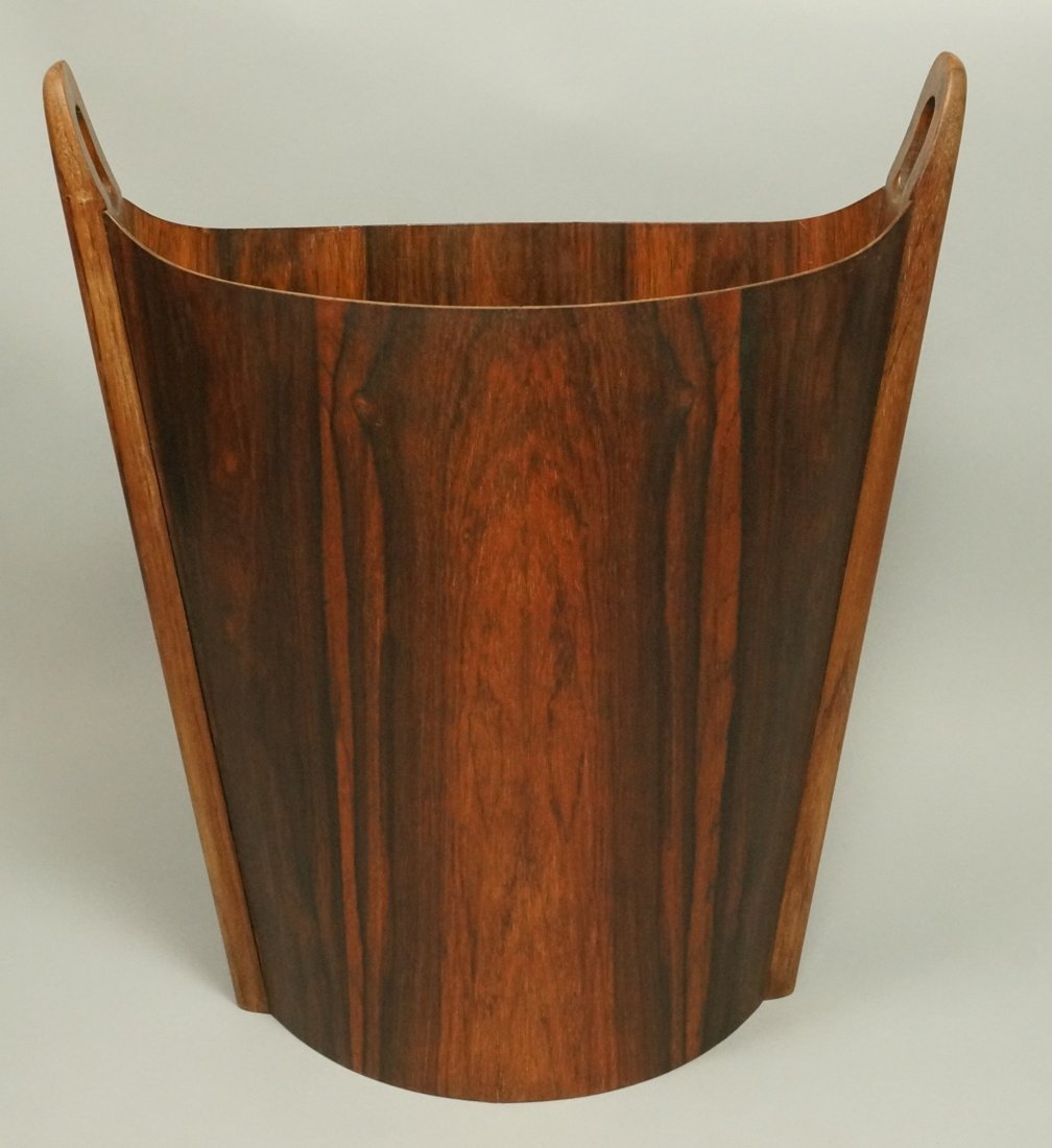 PS HEGGEN Norway Rosewood Waste Basket. Trash Can