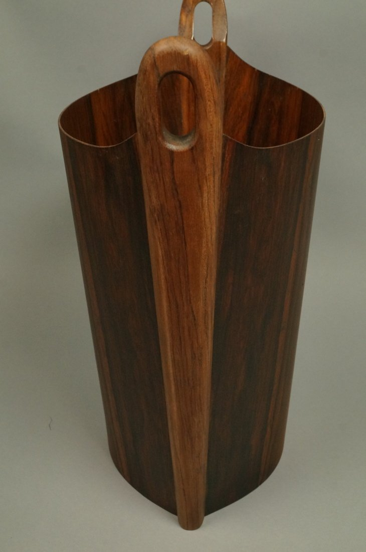PS HEGGEN Norway Rosewood Waste Basket. Trash Can - 7