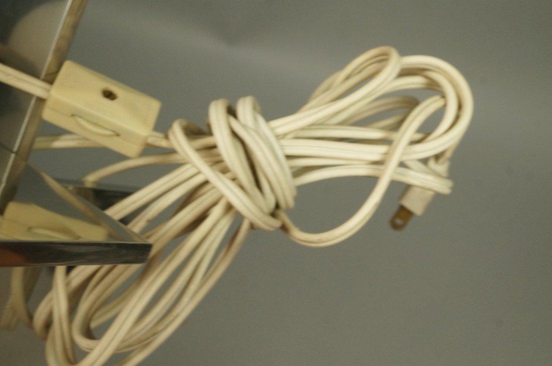 Small Modernist Stainless Hanging Pendant Light. - 6