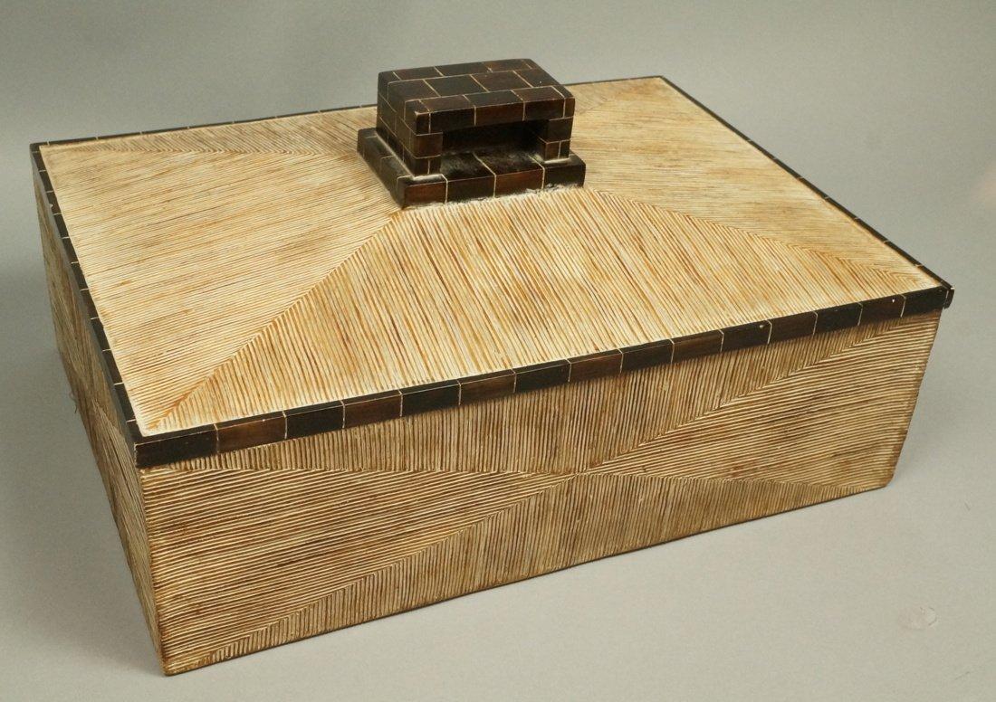 MAITLAND SMITH style Designer Lidded Box. Tribal