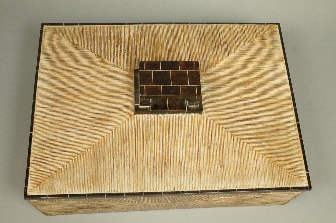 MAITLAND SMITH style Designer Lidded Box. Tribal - 2