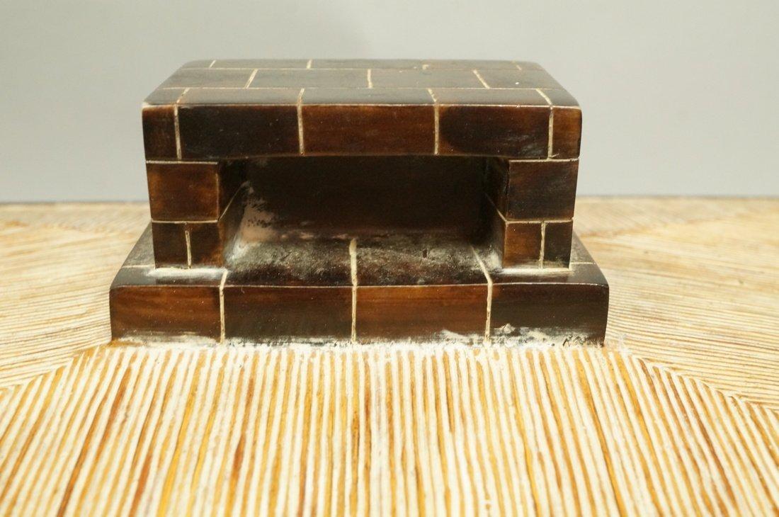MAITLAND SMITH style Designer Lidded Box. Tribal - 4