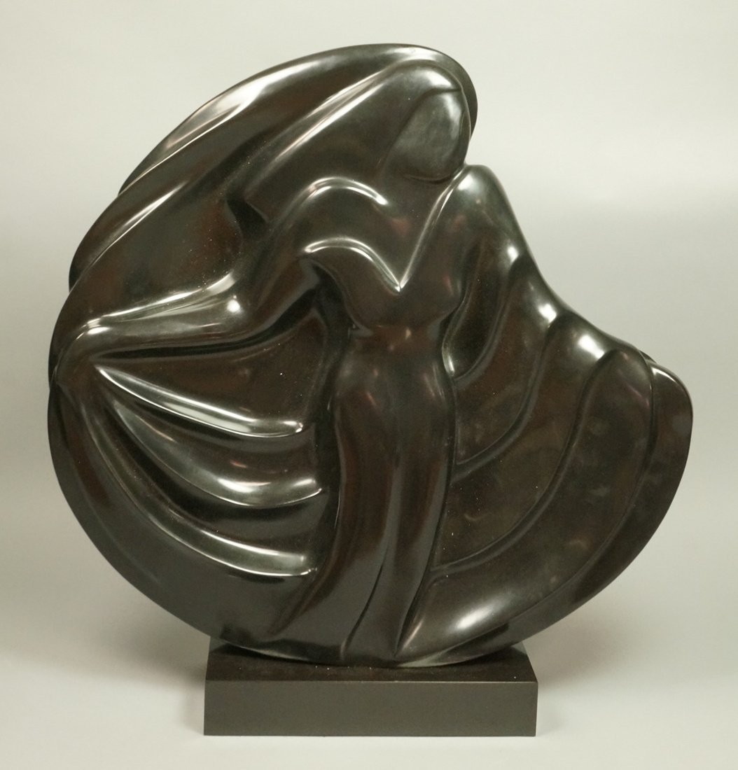 SHERRY C HOLLANDER Bronze Modernist Female Sculpt