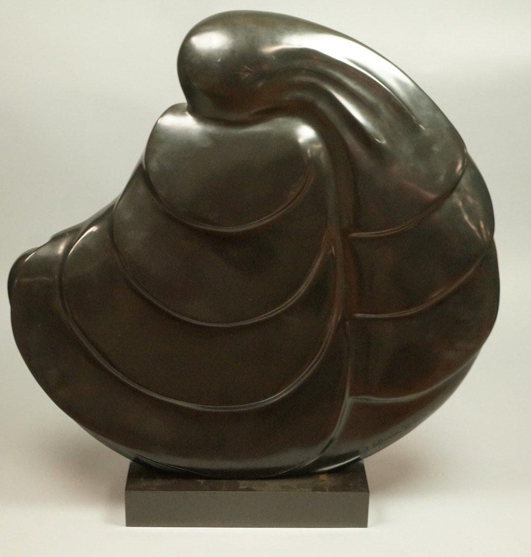 SHERRY C HOLLANDER Bronze Modernist Female Sculpt - 5