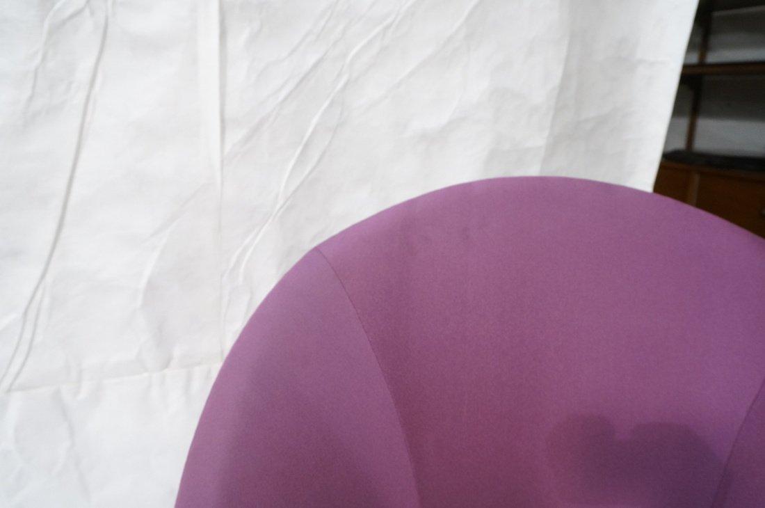 Pr Modernist High Back Lounge Chairs. Purple fabr - 5