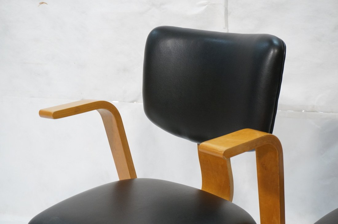 Pr THONET Molded Wood Side Arm Chairs. Modernist - 2