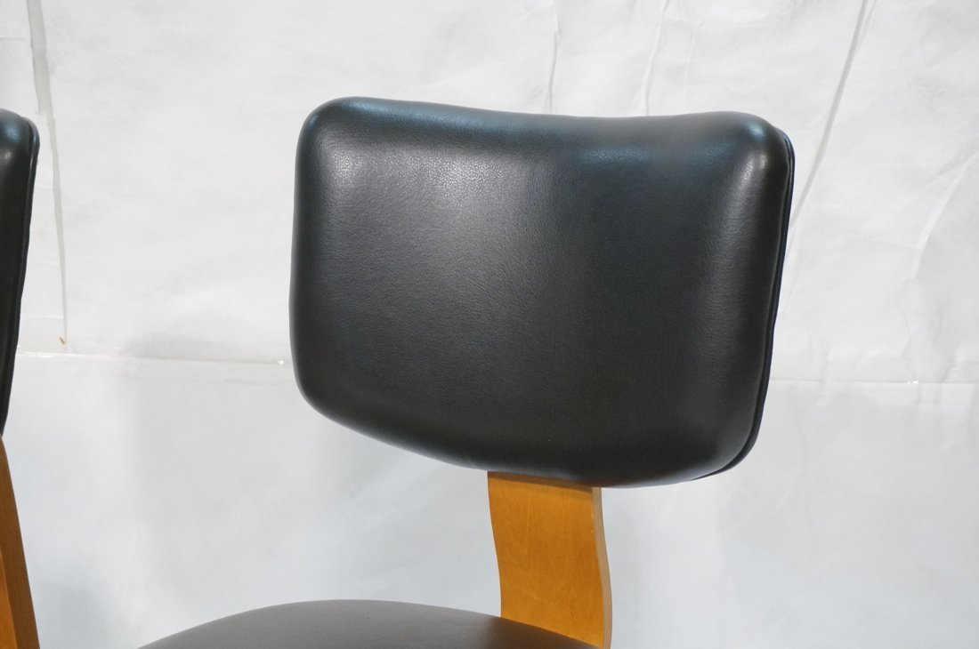 Pr THONET Molded Wood Side Arm Chairs. Modernist - 7