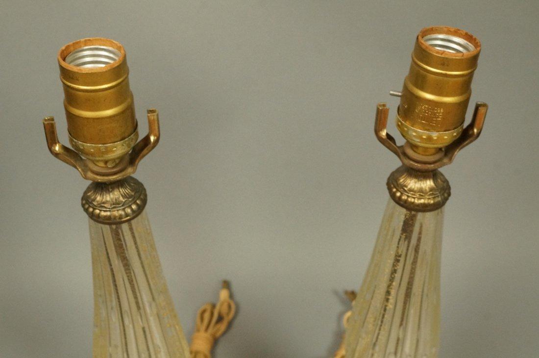 Pr Murano Italian Teardrop Art Glass Table Lamps. - 4