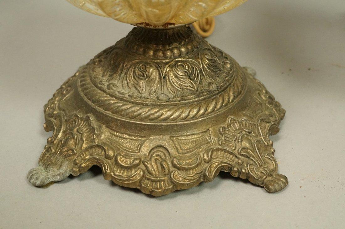 Pr Murano Italian Teardrop Art Glass Table Lamps. - 7