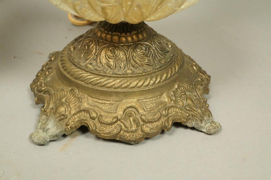 Pr Murano Italian Teardrop Art Glass Table Lamps. - 8