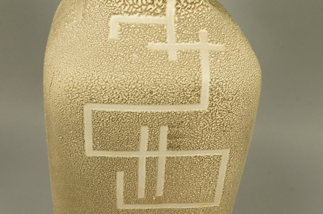 Large Textured Pottery Modernist Lamp. Calligraph - 6