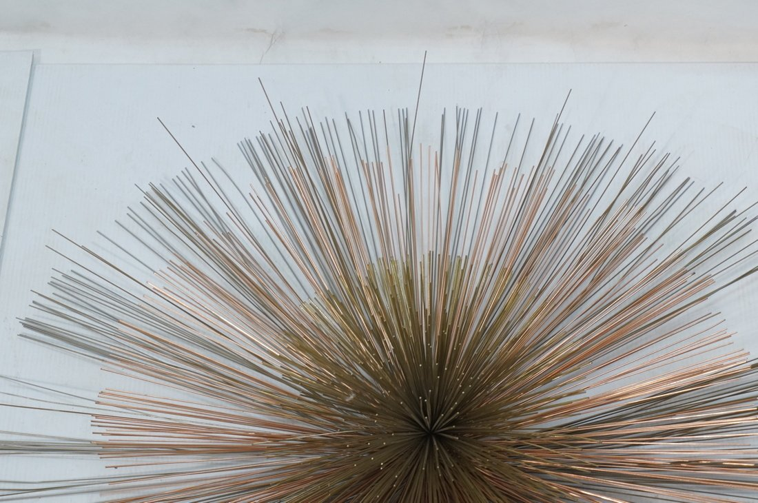 Large C JERE Copper & Brass Pom Pom Wall Sculptur - 2