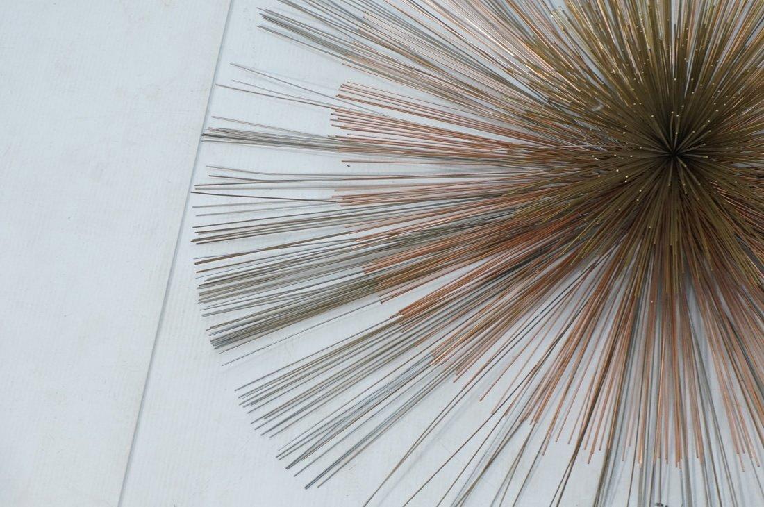 Large C JERE Copper & Brass Pom Pom Wall Sculptur - 3