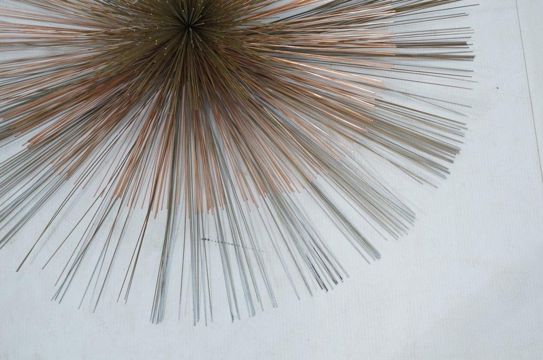 Large C JERE Copper & Brass Pom Pom Wall Sculptur - 4