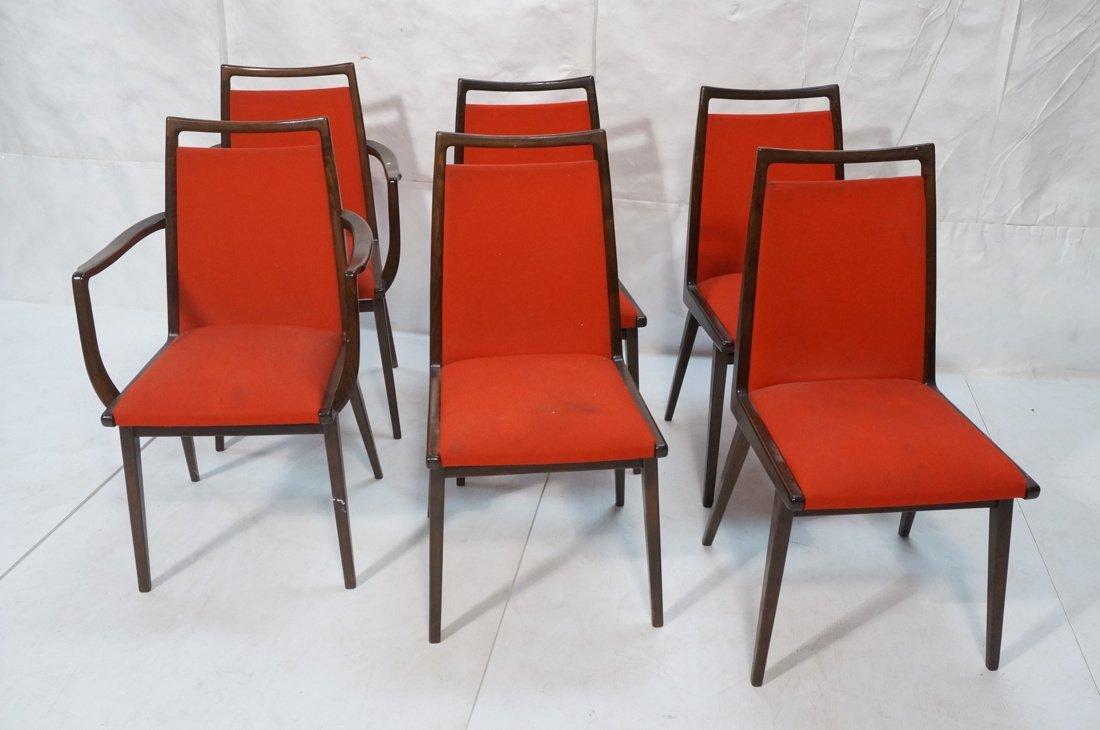 Set 6 Dining Chairs. German Modernist. Dark Wood - 2
