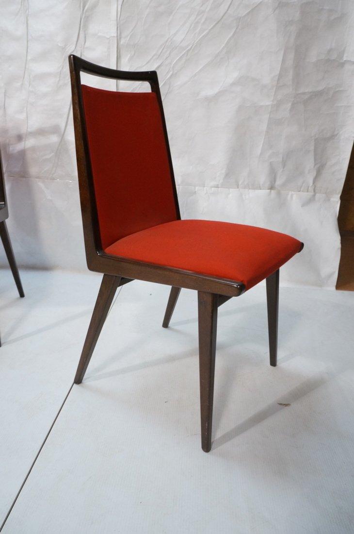 Set 6 Dining Chairs. German Modernist. Dark Wood - 3