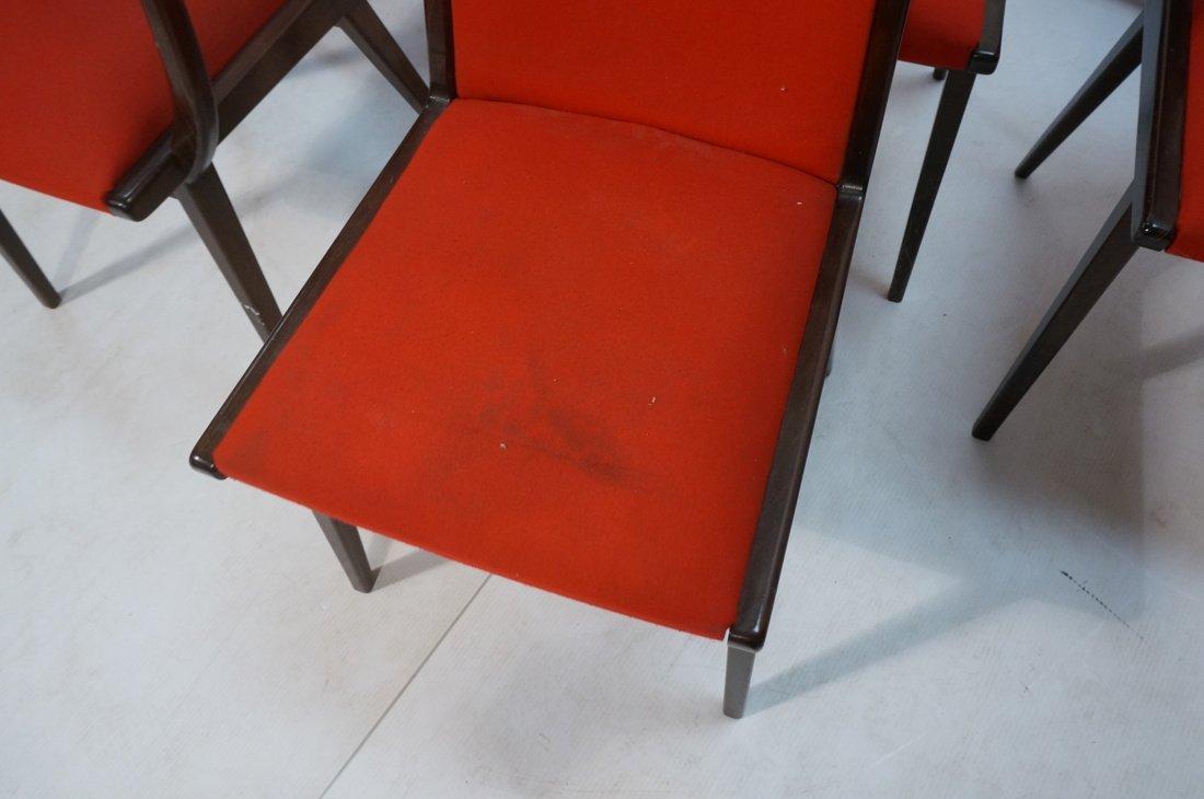 Set 6 Dining Chairs. German Modernist. Dark Wood - 4