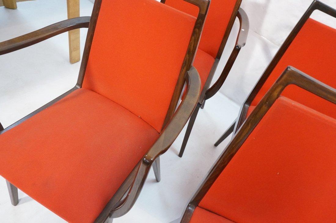 Set 6 Dining Chairs. German Modernist. Dark Wood - 6