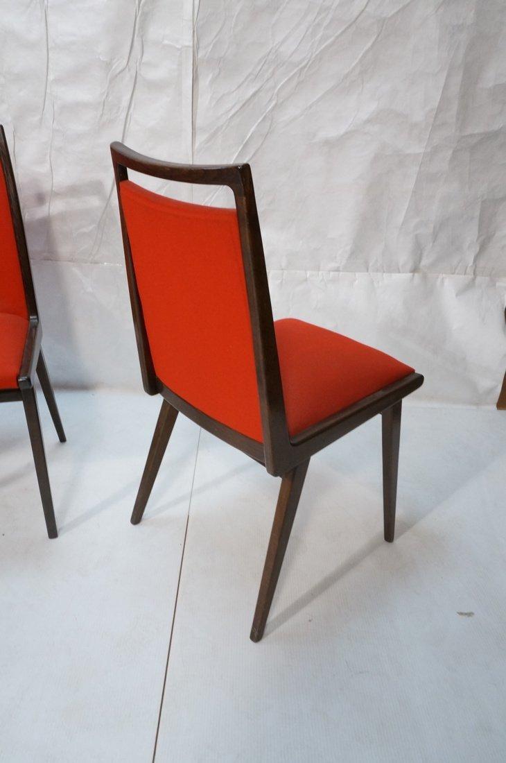 Set 6 Dining Chairs. German Modernist. Dark Wood - 7