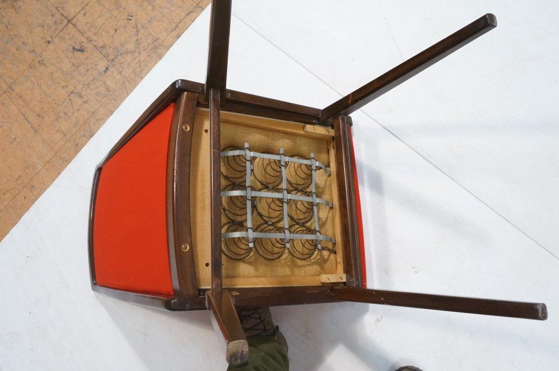 Set 6 Dining Chairs. German Modernist. Dark Wood - 8