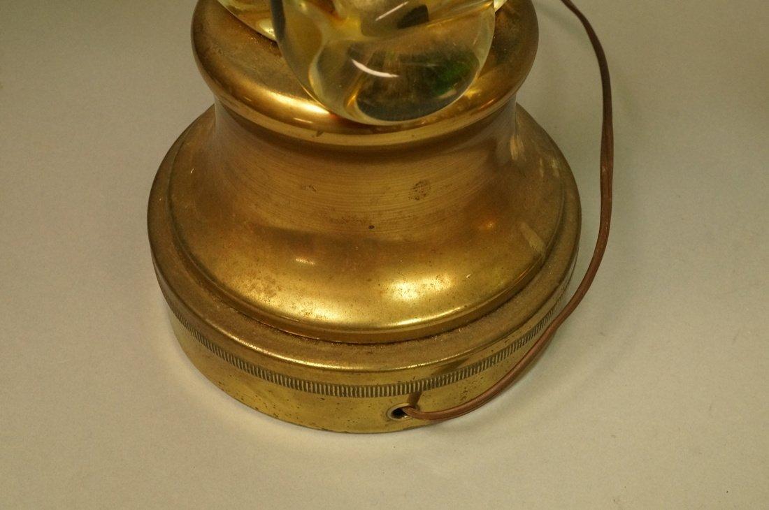 2pcs Murano Art Glass Table Lamps. Pale yellow gl - 5