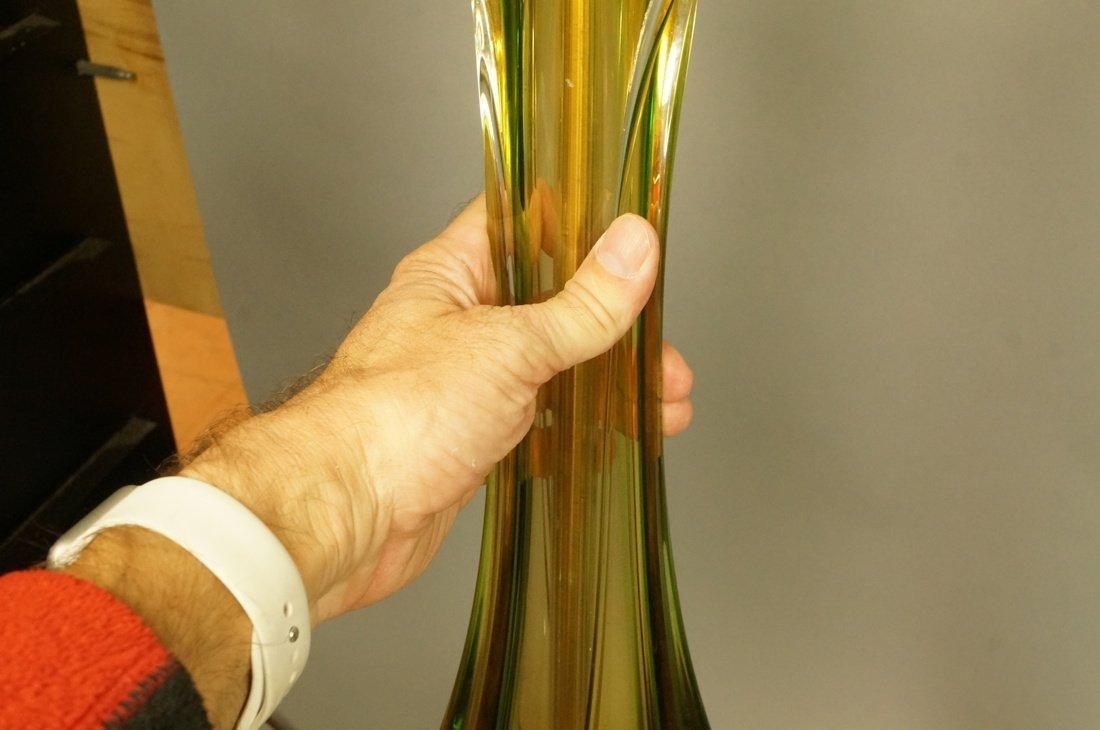 2pcs Murano Art Glass Table Lamps. Pale yellow gl - 6