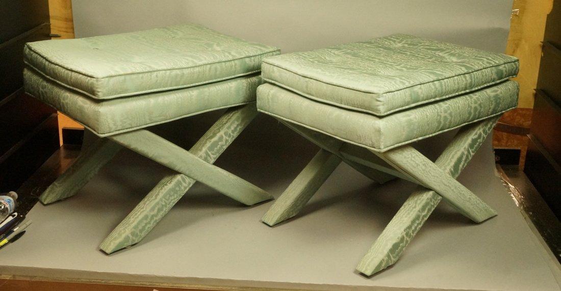 Pr Aqua Blue Green Billy Baldwin style Decorator