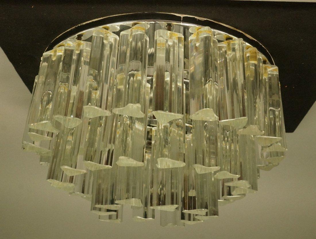 Venini style Ceiling Mount Light Fixture. Glass 3