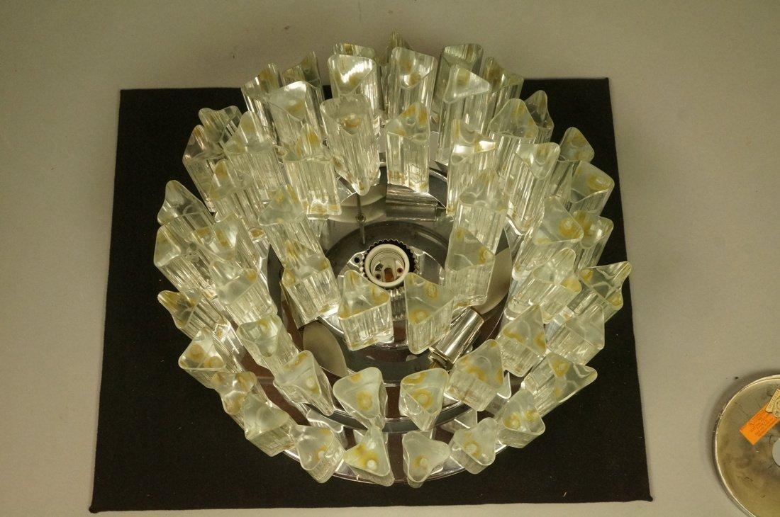 Venini style Ceiling Mount Light Fixture. Glass 3 - 2