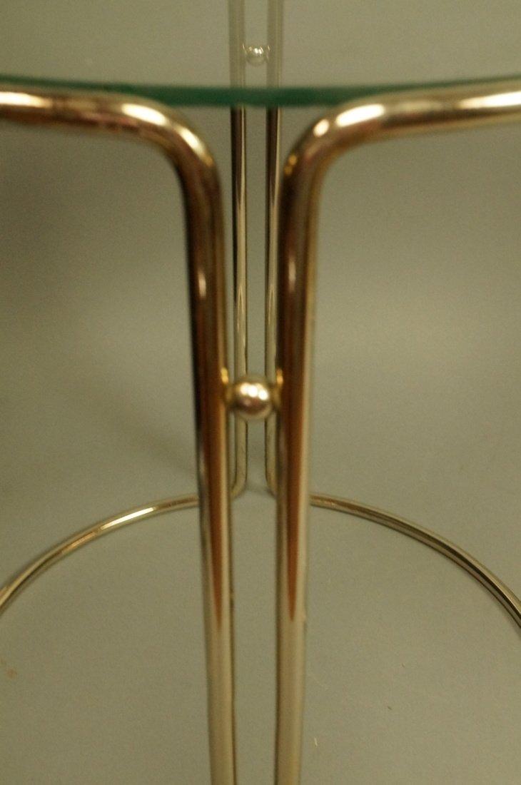 Set 3 Chrome & Inset Glass Nesting Tables. Modern - 3