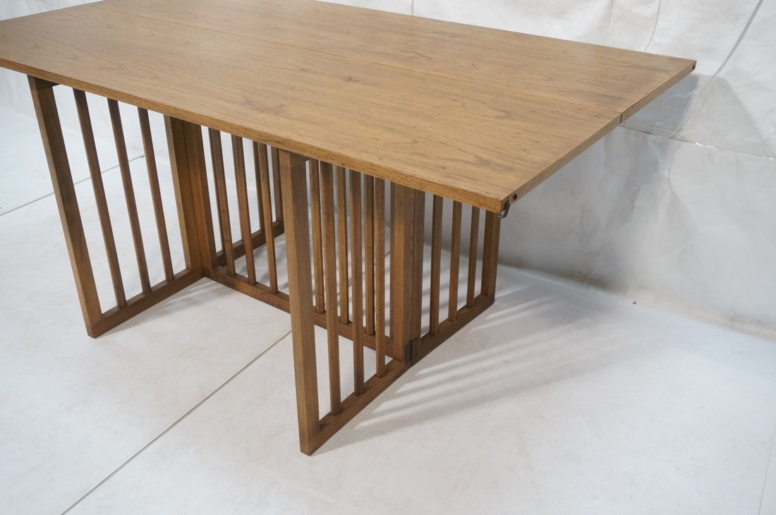 Long wood flip top Hall Table. Arts & Craft style - 4